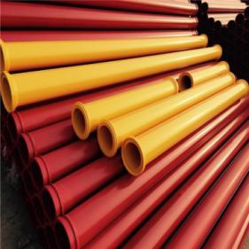 Putzmeister Schwing High Quality More Wear-resisting ST52 Thickness 5.0mm Concrete Pump Harden Pipe Line with 148MM SK Gr15 Collor Life Up to 30,000m3