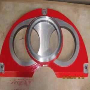Sermac Duro22 Carbon DN200 DN230 Concrete Pump Wear Plate and Cutting Ring Life 14,000m3-16,000m3
