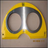 Sermac Carbide Best Quality DN200 DN230 Concrete Pump Spectacle Wear Plate and Cutting Ring Life About 30,000m3
